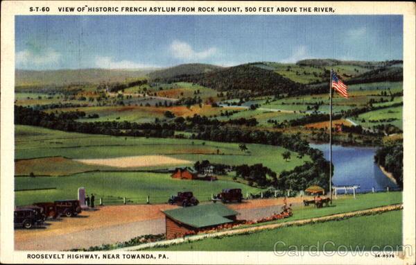 View Of Historic French Asylum Towanda Pennsylvania