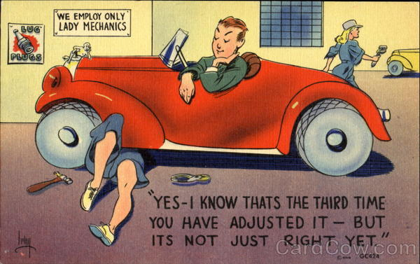 We Employ Only Lady Mechanics Comic, Funny
