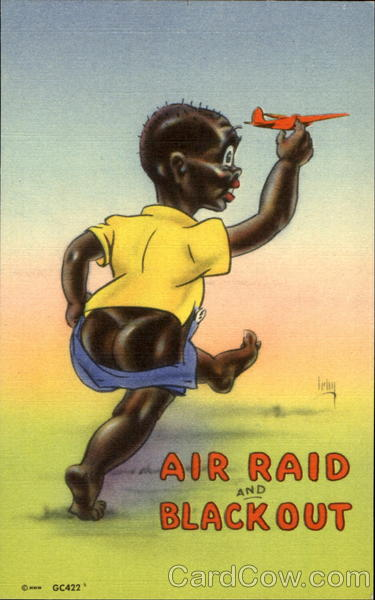 Air Raid And Blackout Comic, Funny Black Americana