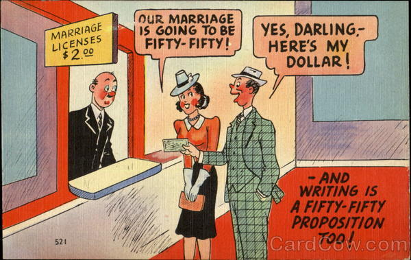 Marriage Licenses $2.00 Comic, Funny