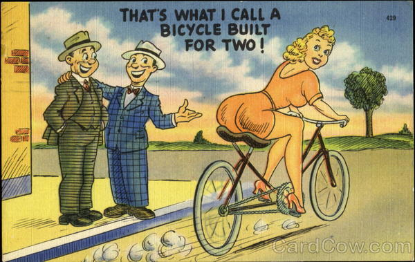That's What I Call A Bicycle Built For Two! Comic, Funny