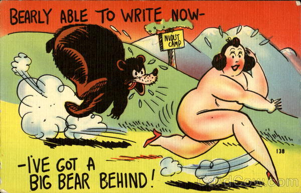 Bearly Able To Write Now Comic, Funny