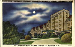 Night Time Scene Of Appalachian Hall
