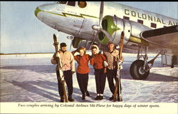 Two Couples Arriving By Colonial Airlines