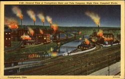 General View Of Youngstown Sheet And Tube Company Night View