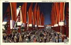 Avenue Of Flags Postcard