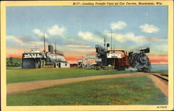 Loading Freight Cars On Car Ferries