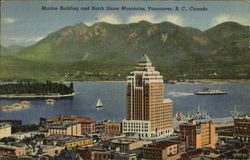 Marine Building And North Shore Mountains