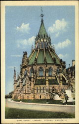 Parliament Library Postcard
