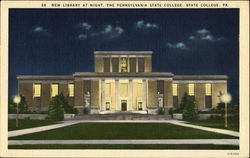 New Library At Night, The Pennsylvania State College