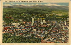 Bird's Eye View Of Reading Postcard