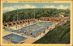 Summit Hotel, Cabana Beach and Pool on U. S. Route 40