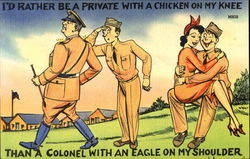 I'D Rather Be A Private With A Chicken On My Knee