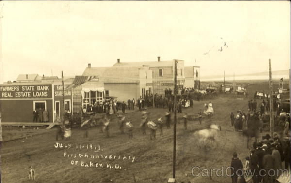 July 14, 1913 First Anniversary Baker North Dakota