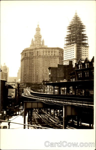 Building Construction, Elevated Railroad New York City