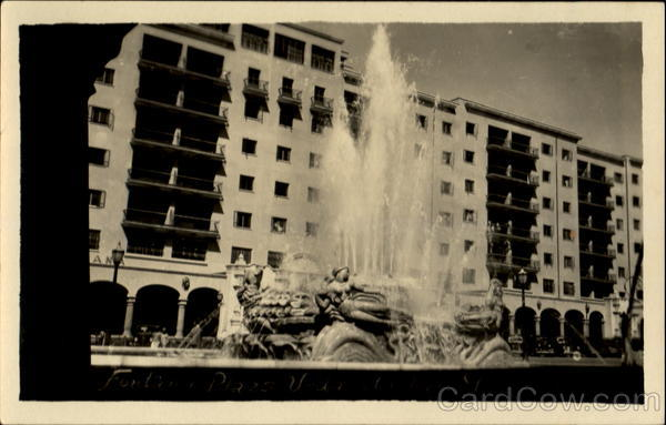 Fountain in Plaza Buildings