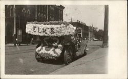 Elks Float Car Decorated with Flowers