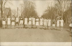 c1910 High School or College Race