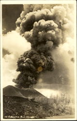 Paricutin Volcano Eruption Postcard