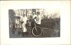 Family with Bicycle