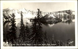 Carter Lake In Winter Dress, Crater lake National Park
