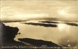 Sunset On The Columbia Postcard