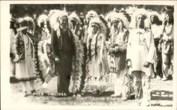 Pres. Coolidge After Becoming Chief Leading Eagle