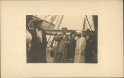 Rare Mark Twain Real Photo w/Group on Boat c1908