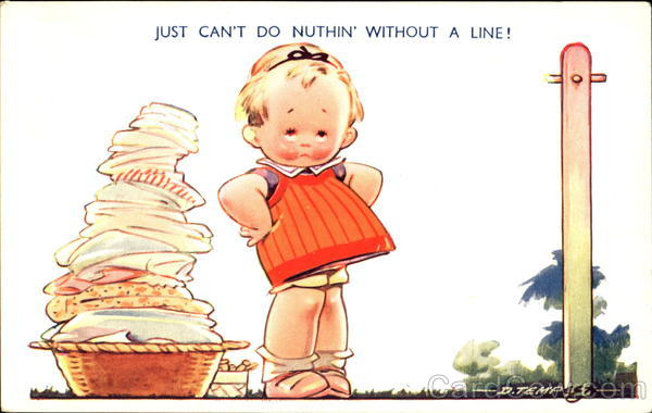 Just Can't Do Nuthin Without A Line! Comic, Funny