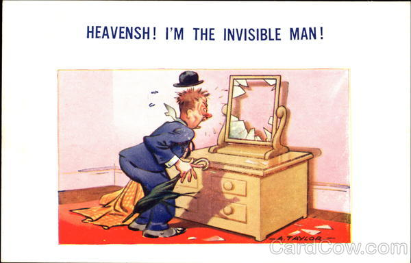Heavensh! I'm The Invisible Man! Comic, Funny