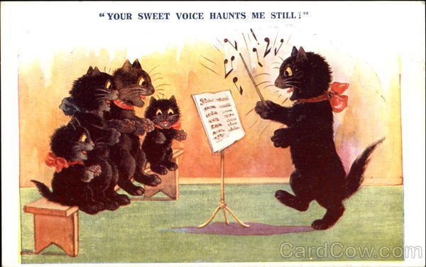 Your Sweet Voice Haunts Me Still! Comic, Funny Music