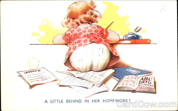 A Little Behind In Her Homework! Comic, Funny