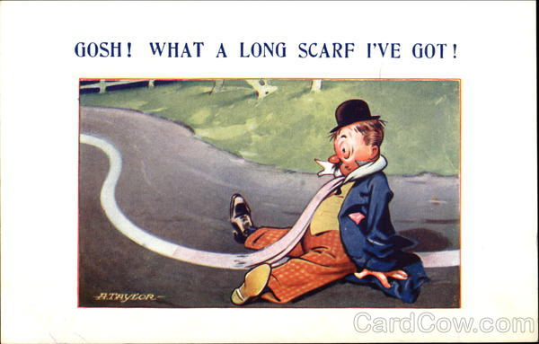 Gosh! What A Long Scarf I've Got! Comic, Funny
