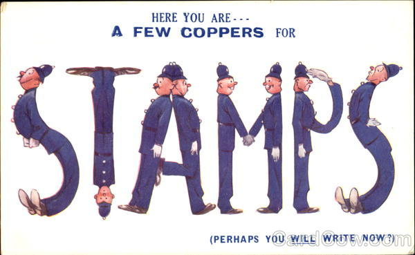 A Few Coppers for Stamps Comic, Funny