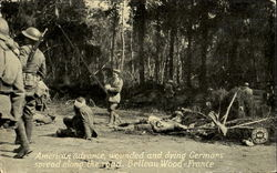 American Advance Wounded And Dying Germans