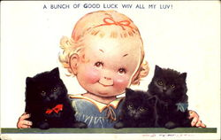 A Bunch Of Good Luck Wiv All My Luv! Postcard
