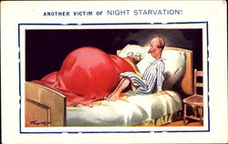 Another Victim Of Night Starvation! Postcard