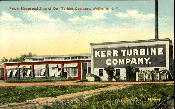 Power House And Shop Of Kerr Turbine Company Wellsville New York