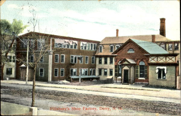 Pillsbury's Shoe Factory Derry New Hampshire