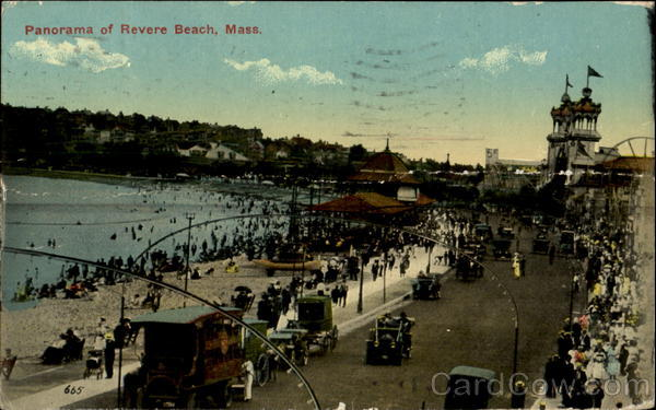 Panorama Of Revere Beach Massachusetts