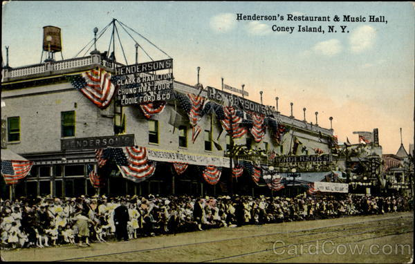 Henderson's Restaurant & Music Hall Coney Island New York