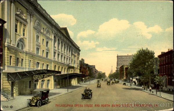 Philadelphia Opera House And North Broad Street Pennsylvania