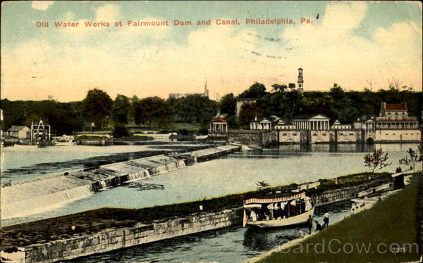 Old Water Works At Fairmount Dam And Canal Philadelphia Pennsylvania