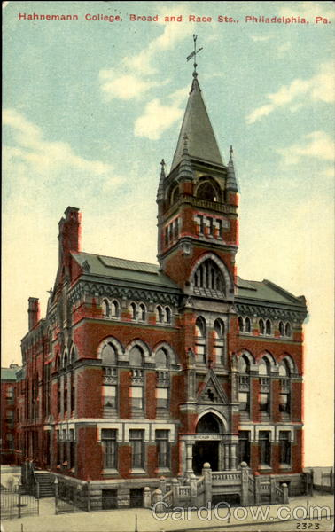 Hahnemann College A, Broad And Race Sts. Philadelphia Pennsylvania