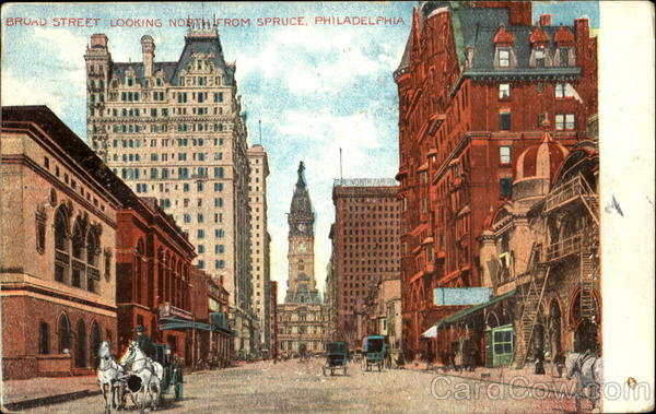 Broad Street Looking North Philadelphia Pennsylvania