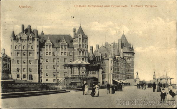 Chateau Frontenac And Promenade Dufferin Terrace Canada