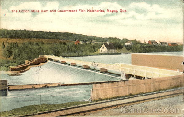 The Cotton Mills Dam And Government Fish Hatcheries Magog Canada