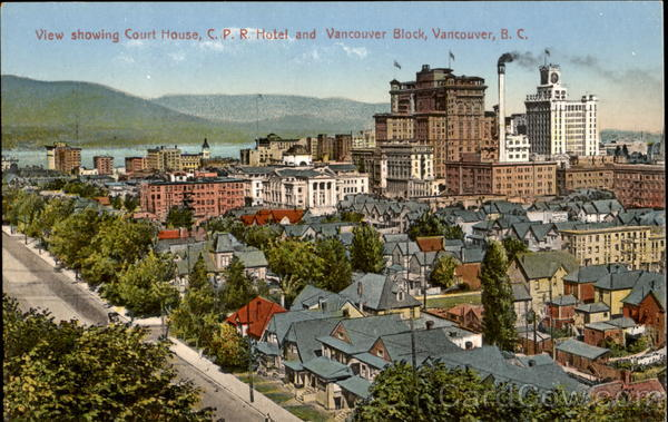 View Showing Court House Vancouver Canada British Columbia