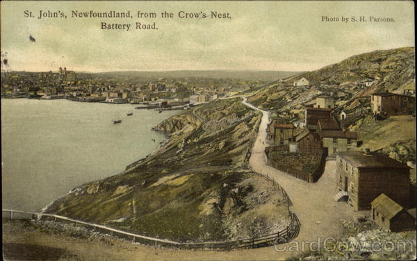 St. John's Newfoundland, From The Crown's Nest, Battery Road Canada