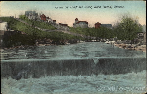 Scene On Tomfobia River Rock Island Canada Quebec